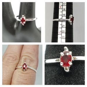 NWOT Sterling Silver Ruby ring